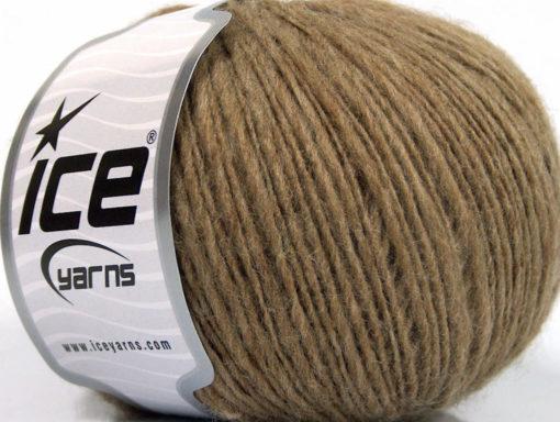 Lot of 8 Skeins Ice Yarns FLAMME WOOL LIGHT (40% Wool) Hand Knitting Yarn Camel
