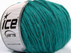 Lot of 8 Skeins Ice Yarns FIAMMATO (45% Wool) Hand Knitting Yarn Emerald Green