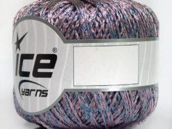 Lot of 6 Skeins Ice Yarns VISCOSE STAR (85% Viscose) Yarn Lilac Blue