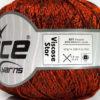 Lot of 6 Skeins Ice Yarns VISCOSE STAR (85% Viscose) Yarn Orange Black