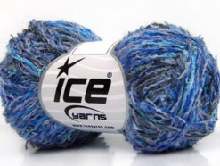 Lot of 8 Skeins Ice Yarns PALERMO COTONE (35% Cotton) Yarn Blue Shades Navy