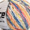 Lot of 8 Skeins Ice Yarns PASTEL COTTON (50% Cotton) Yarn Blue Yellow Salmon White