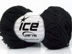 Lot of 8 Skeins Ice Yarns NATURAL COTTON FINE (100% Cotton) Yarn Black