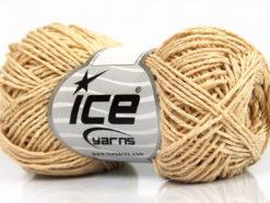 Lot of 8 Skeins Ice Yarns NATURAL COTTON FINE (100% Cotton) Yarn Beige