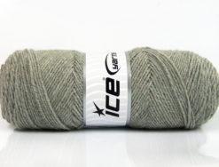 Lot of 4 x 100gr Skeins Ice Yarns BONITO (50% Wool) Hand Knitting Yarn Grey