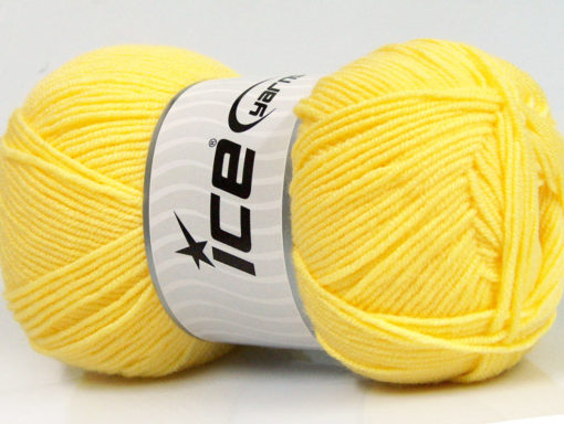Lot of 4 x 100gr Skeins Ice Yarns BAMBOO SOFT FINE (50% Bamboo) Yarn Yellow