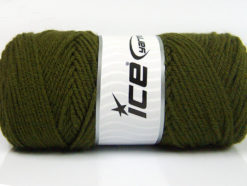 Lot of 4 x 100gr Skeins Ice Yarns SAVER 100 Hand Knitting Yarn Khaki