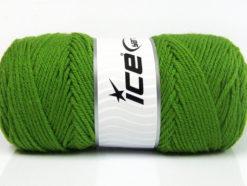 Lot of 4 x 100gr Skeins Ice Yarns SAVER 100 Hand Knitting Yarn Green