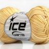 Lot of 6 Skeins Ice Yarns COTTON FINE MELANGE (100% Mercerized Cotton) Yarn Cream