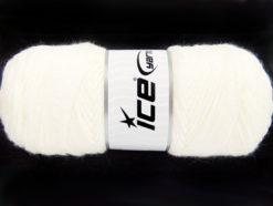 Lot of 4 x 100gr Skeins Ice Yarns SAVER 100 Hand Knitting Yarn Ivory