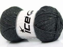 Lot of 4 Skeins Ice Yarns SILK MERINO DK (35% Silk 65% Merino Wool) Yarn Anthracite Black