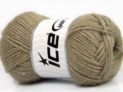 Lot of 4 Skeins Ice Yarns SILK MERINO DK (35% Silk 65% Merino Wool) Yarn Khaki