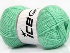 Lot of 4 Skeins Ice Yarns SILK MERINO DK (35% Silk 65% Merino Wool) Yarn Mint Green