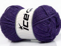 Lot of 4 Skeins Ice Yarns SILK MERINO DK (35% Silk 65% Merino Wool) Yarn Purple