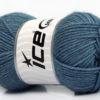 Lot of 4 Skeins Ice Yarns SILK MERINO DK (35% Silk 65% Merino Wool) Yarn Jeans Blue