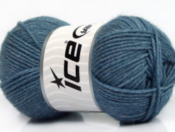 Lot of 4 Skeins Ice Yarns SILK MERINO DK (35% Silk 65% Merino Wool) Yarn Jeans Blue