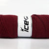 Lot of 4 x 100gr Skeins Ice Yarns BONITO (50% Wool) Hand Knitting Yarn Burgundy