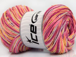 Lot of 4 x 100gr Skeins Ice Yarns DREAM Yarn Orchid Pink Yellow Lilac