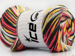 Lot of 4 x 100gr Skeins Ice Yarns DREAM Yarn White Black Salmon Grey Yellow