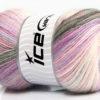 Lot of 4 x 100gr Skeins Ice Yarns ANGORA ACTIVE (25% Angora) Yarn Grey Pink Lilac Cream