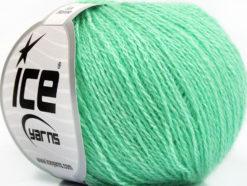Lot of 6 Skeins Ice Yarns SILK MERINO (35% Silk 65% Merino Wool) Yarn Mint Green