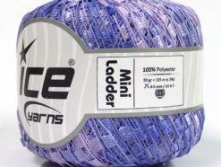Lot of 6 Skeins Ice Yarns Trellis MINI LADDER Hand Knitting Yarn Lilac Shades