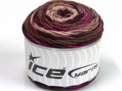 Lot of 3 x 100gr Skeins Ice Yarns CAKES BLUES Yarn Purple Shades Brown Shades