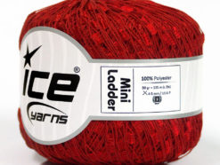 Lot of 6 Skeins Ice Yarns Trellis MINI LADDER Hand Knitting Yarn Red