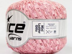 Lot of 6 Skeins Ice Yarns Trellis MINI LADDER GLITZ Hand Knitting Yarn Pink