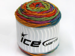 Lot of 3 x 100gr Skeins Ice Yarns CAKES BLUES Yarn Green Shades Lilac Copper Blue