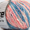 Lot of 8 Skeins Ice Yarns PASTEL COTTON (50% Cotton) Yarn Pink Shades Blue Shades