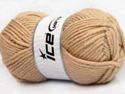 Lot of 4 x 100gr Skeins Ice Yarns WOOL BULKY GLITZ (25% Wool) Yarn Beige Gold