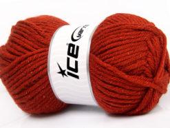 Lot of 4 x 100gr Skeins Ice Yarns WOOL BULKY GLITZ (25% Wool) Yarn Copper
