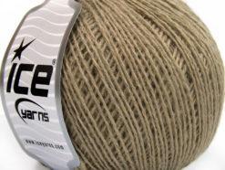 Lot of 8 Skeins Ice Yarns WOOL FINE (50% Wool) Hand Knitting Yarn Dark Camel