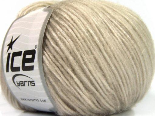 Lot of 8 Skeins Ice Yarns SILVER SHINE Hand Knitting Yarn Light Beige