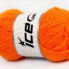 Lot of 8 Skeins Ice Yarns BABY WOOL (40% Wool) Hand Knitting Yarn Light Orange