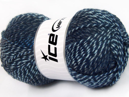 Lot of 4 x 100gr Skeins Ice Yarns FAVOURITE WOOL (50% Wool) Yarn Blue Shades