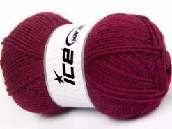 Lot of 4 x 100gr Skeins Ice Yarns FAVOURITE WOOL (50% Wool) Yarn Dark Fuchsia