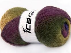Lot of 4 x 100gr Skeins Ice Yarns ALPACA ACTIVE (20% Alpaca 20% Wool) Yarn Purple Maroon Green Shades
