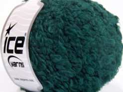 Lot of 8 Skeins Ice Yarns PAPERINO BOUCLE (9% Wool) Yarn Emerald Green