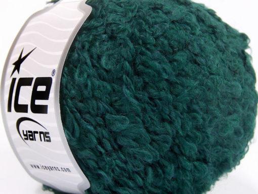 Lot of 8 Skeins Ice Yarns PAPERINO BOUCLE (9% Wool) Yarn Emerald Green