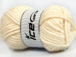 Lot of 4 x 100gr Skeins Ice Yarns ATLAS SUPERBULKY Yarn Light Cream