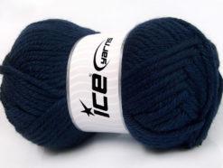 Lot of 2 x 200gr Skeins Ice Yarns ATLAS JUMBO Hand Knitting Yarn Navy