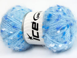 Lot of 3 x 100gr Skeins Ice Yarns BONIBON Hand Knitting Yarn Blue Shades