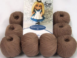 Lot of 8 Skeins Ice Yarns AMIGURUMI COTTON 25 (50% Cotton) Yarn Camel