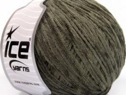 Lot of 6 Skeins Ice Yarns AMIGURUMI CHENILLE Hand Knitting Yarn Khaki