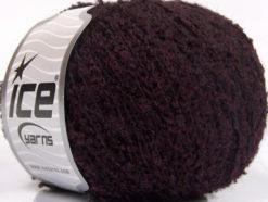 Lot of 8 Skeins Ice Yarns ALPACA BOUCLE FINE (25% Alpaca 25% Wool) Yarn Dark Maroon