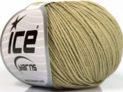 Lot of 4 Skeins Ice Yarns AMIGURUMI COTTON (60% Cotton) Yarn Light Khaki