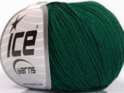 Lot of 4 Skeins Ice Yarns AMIGURUMI COTTON (60% Cotton) Yarn Dark Green