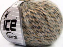 Lot of 8 Skeins Ice Yarns ROCK STAR (19% Merino Wool) Yarn Bronze Black White